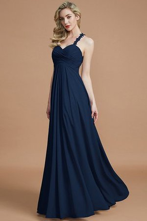 Natural Waist Floor Length Sweetheart Ruched Princess Bridesmaid Dress - 16