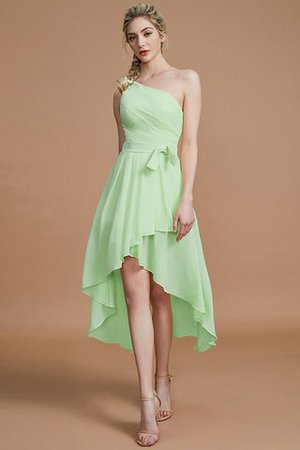 Asymmetrical Chiffon Natural Waist Bridesmaid Dress - 31