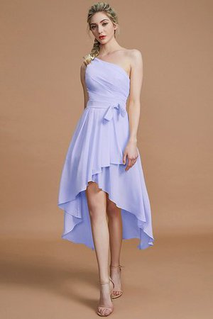 Asymmetrical Chiffon Natural Waist Bridesmaid Dress - 22