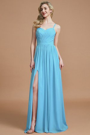 Natural Waist Sleeveless Floor Length Princess Chiffon Bridesmaid Dress - 8