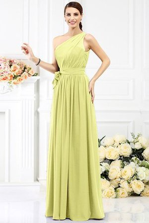 Long Sleeveless A-Line One Shoulder Bridesmaid Dress - 7