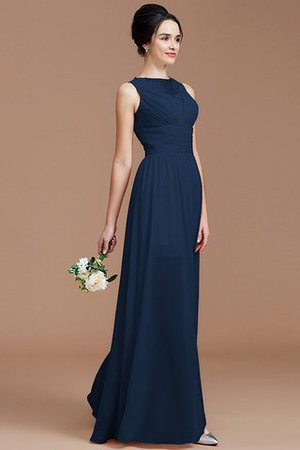 Ruched Zipper Up Natural Waist Jewel Sleeveless Bridesmaid Dress - 15