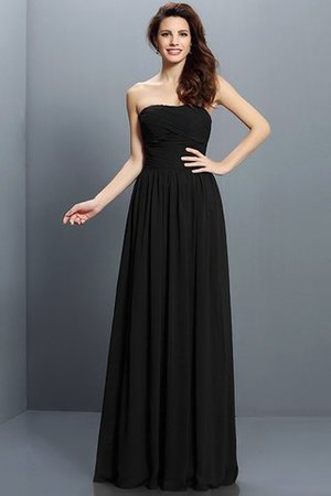 Strapless A-Line Pleated Zipper Up Bridesmaid Dress - 2