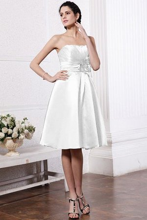 Zipper Up Princess Short Flowers Pleated Bridesmaid Dress - 29