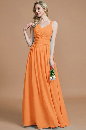 Sleeveless Natural Waist A-Line V-Neck Bridesmaid Dress - 26