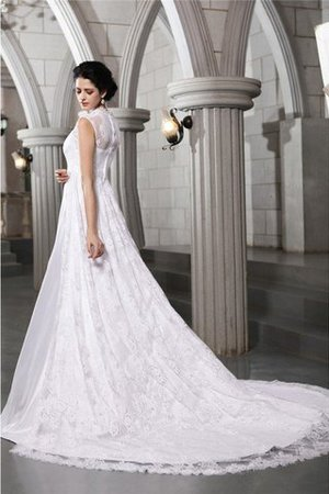 Sleeveless Zipper Up Wide Straps Satin A-Line Wedding Dress - 2