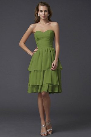 Short Chiffon Sheath Sleeveless Zipper Up Bridesmaid Dress - 15