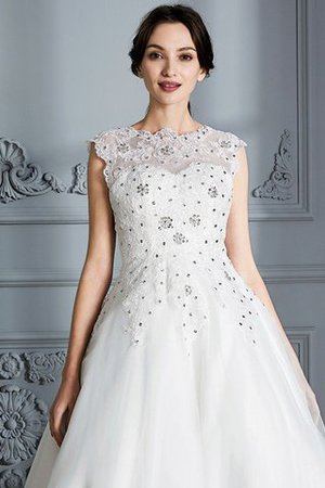 Scoop Sleeveless Ball Gown Tulle Natural Waist Wedding Dress - 7