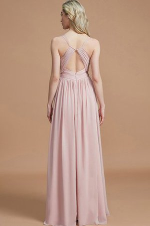 Natural Waist Sleeveless Floor Length Princess Chiffon Bridesmaid Dress - 35