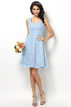 Wide Straps Short Sleeveless Natural Waist Satin Bridesmaid Dress - 18