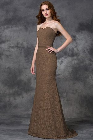 Appliques Zipper Up Sleeveless Floor Length Natural Waist Bridesmaid Dress - 3