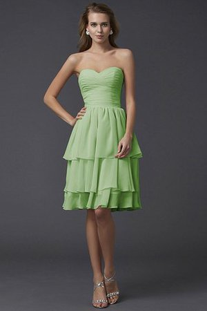 Short Chiffon Sheath Sleeveless Zipper Up Bridesmaid Dress - 27