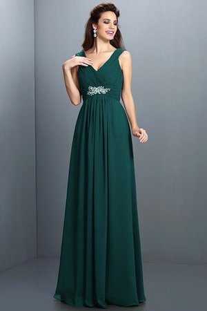 A-Line Chiffon Long Sleeveless Bridesmaid Dress - 8