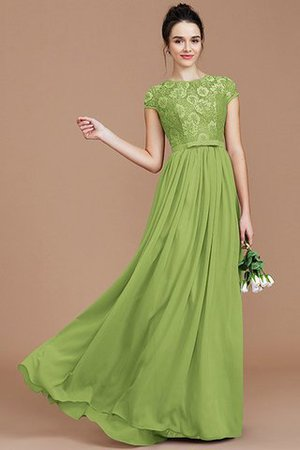A-Line Jewel Lace Short Sleeves Bridesmaid Dress - 21
