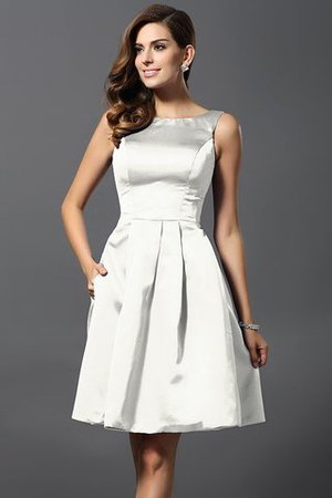 A-Line Knee Length Natural Waist Bridesmaid Dress - 16