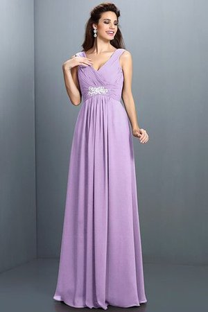 A-Line Chiffon Long Sleeveless Bridesmaid Dress - 19