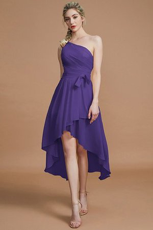 Asymmetrical Chiffon Natural Waist Bridesmaid Dress - 29