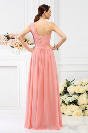 Pleated Long A-Line One Shoulder Bridesmaid Dress - 30