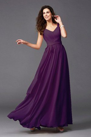 Sashes Floor Length Spaghetti Straps A-Line Bridesmaid Dress - 30