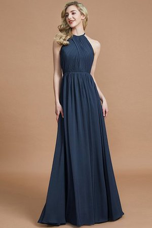 Sleeveless Floor Length A-Line Scoop Bridesmaid Dress - 15