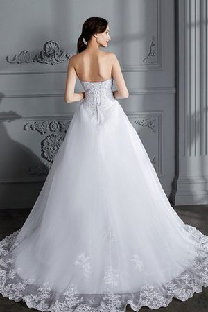 Ball Gown Natural Waist Organza Sleeveless Court Train Wedding Dress - 2
