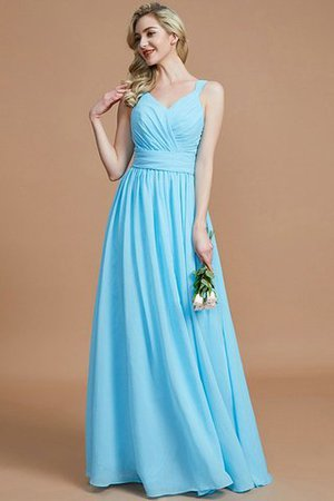 Sleeveless Natural Waist A-Line V-Neck Bridesmaid Dress - 9