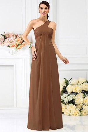 Zipper Up Long Floor Length A-Line Bridesmaid Dress - 4