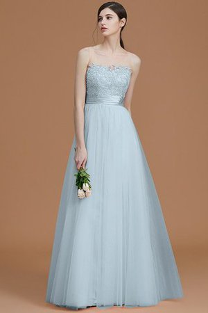 Tulle Zipper Up A-Line Appliques Bridesmaid Dress - 24