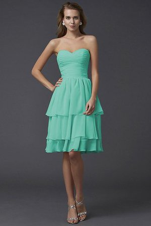 Short Chiffon Sheath Sleeveless Zipper Up Bridesmaid Dress - 14
