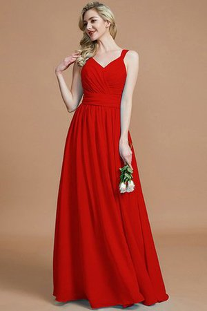 Sleeveless Natural Waist A-Line V-Neck Bridesmaid Dress - 29