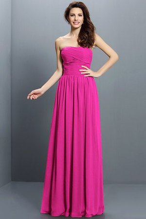 Strapless A-Line Pleated Zipper Up Bridesmaid Dress - 11