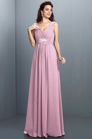 A-Line Chiffon Long Sleeveless Bridesmaid Dress - 22