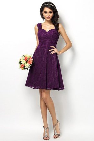 Wide Straps Short Sleeveless Natural Waist Satin Bridesmaid Dress - 13
