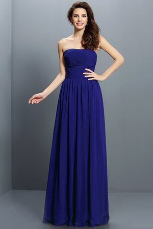 Strapless A-Line Pleated Zipper Up Bridesmaid Dress - 25