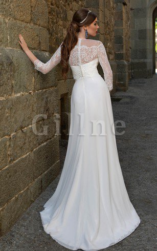 A-Line Chiffon Informal & Casual Zipper Up Beach Wedding Dress
