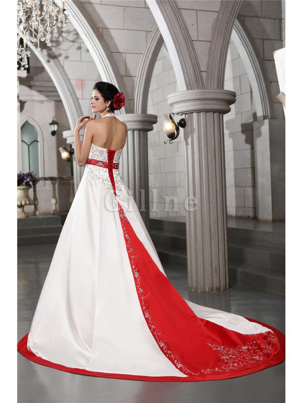 Long Princess V-Neck Sleeveless Empire Waist Wedding Dress