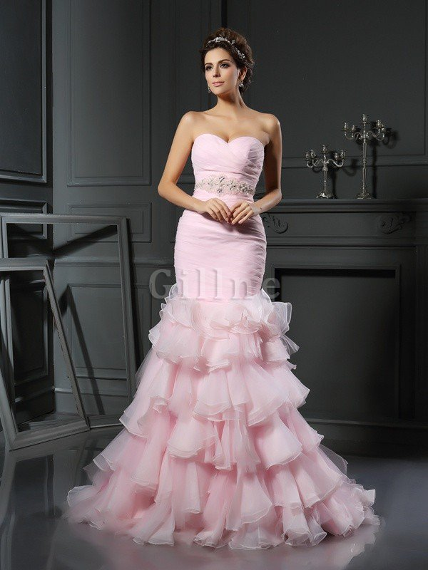 Sleeveless Beading Long Natural Waist Sweetheart Wedding Dress