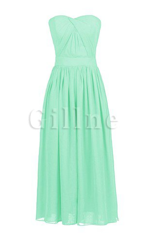 Elegant & Luxurious Natural Waist A-Line Chiffon Zipper Up Bridesmaid Dress