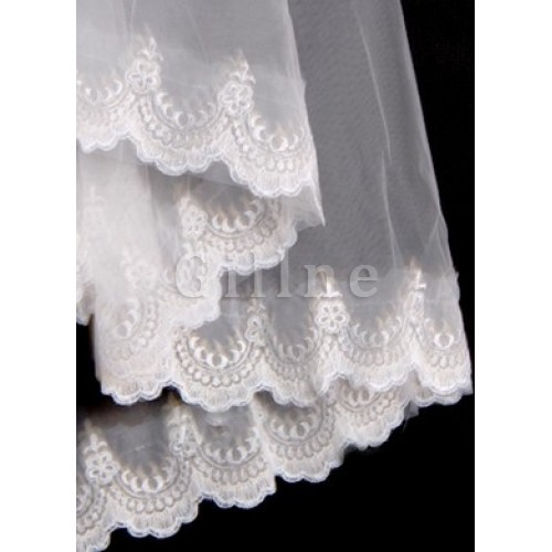 Lace Hem Wonderful Short Wedding Veil