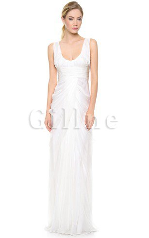 Long Zipper Up Floor Length Ruffles Taffeta Wedding Dress