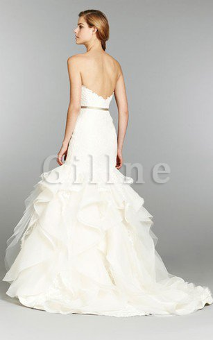 Short Sleeves Off The Shoulder Dropped Waist A-Line Wedding Dress