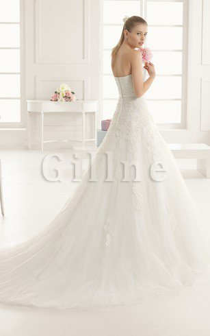 Natural Waist Swing Floor Length A-Line Wedding Dress